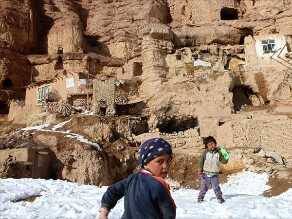 maison troglodyte bamiyan