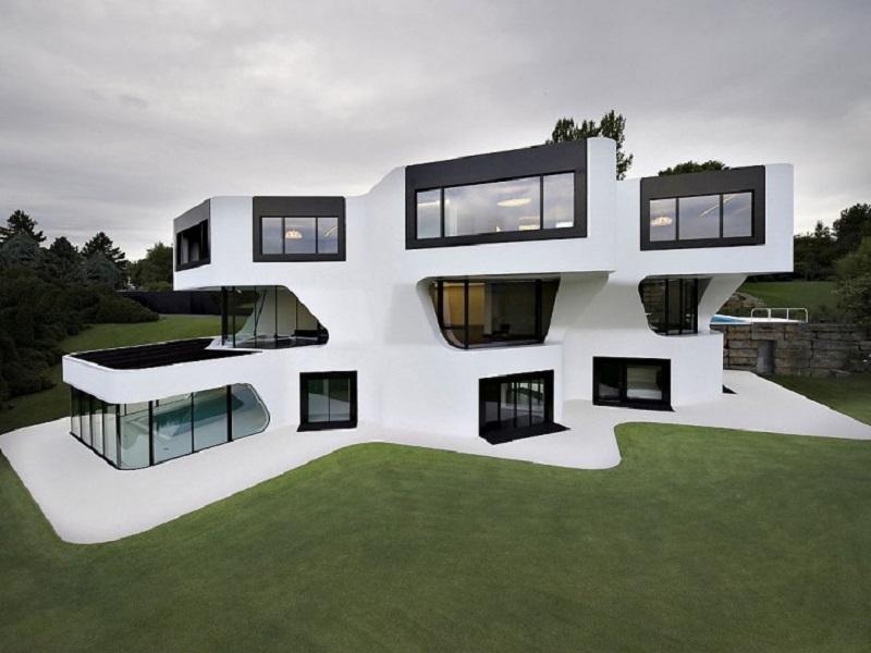 Dupli casa une maison tr s futuriste for Couleur exterieur maison contemporaine