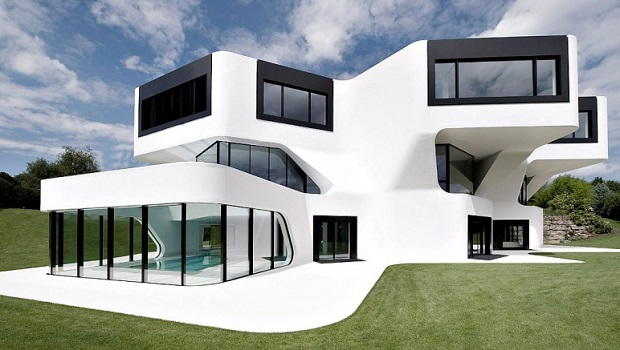 Maison futuriste en bois des id es novatrices sur la for Plan maison futuriste