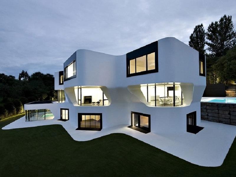 Dupli casa une maison tr s futuriste for Couleur exterieur maison moderne