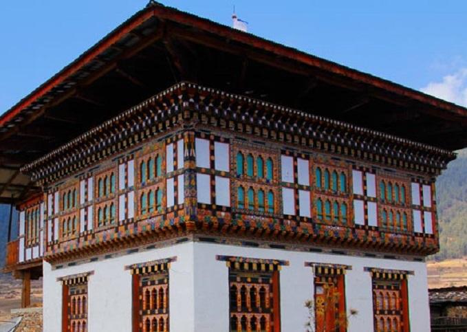 Maisons traditionnelles du Bhoutan