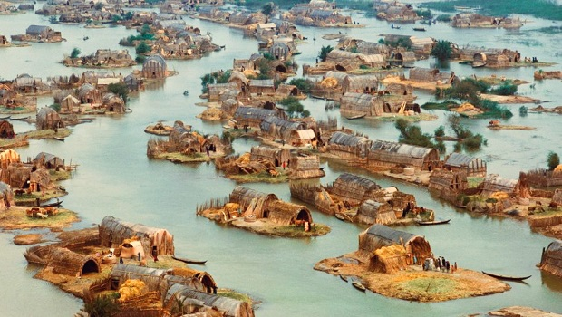 maisons flottantes irak
