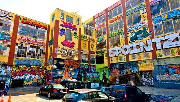 Le bâtiment Graffiti 5Pointz à Long Island