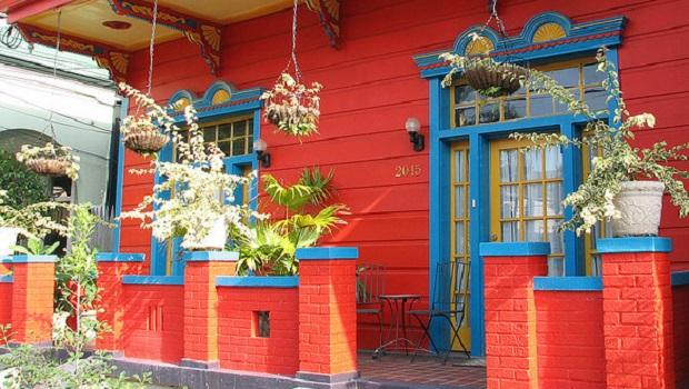 maisons colorées de la Nouvelle-Orléans