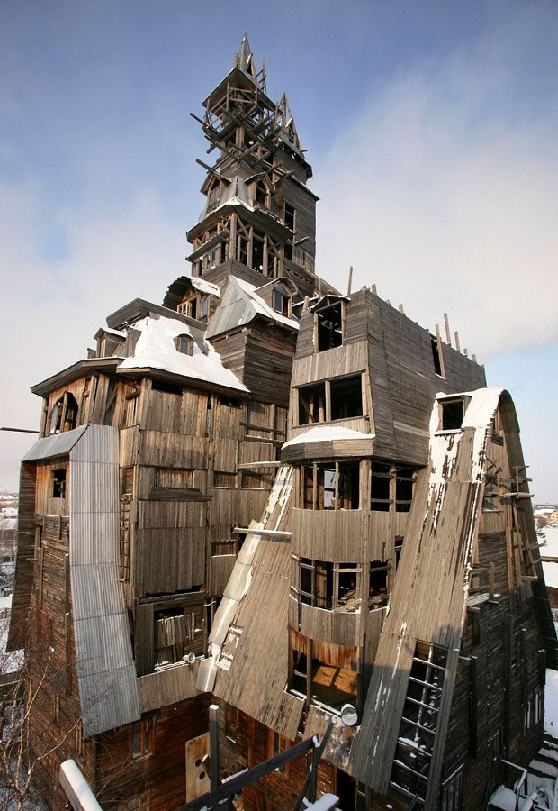 maison en bois russie