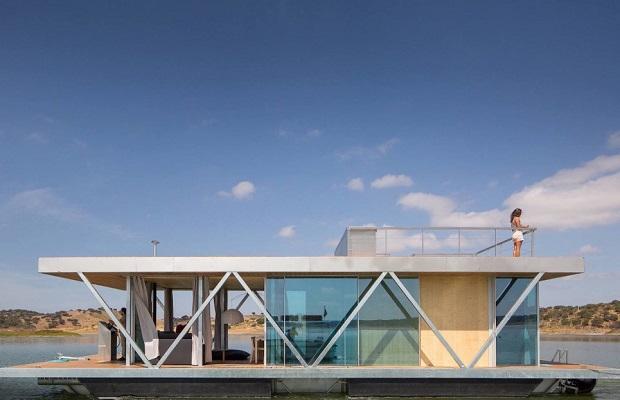 Une maison flottante qui vous permet d 39 appr cier la nature sans lui nuire - Debarrasser une maison ...