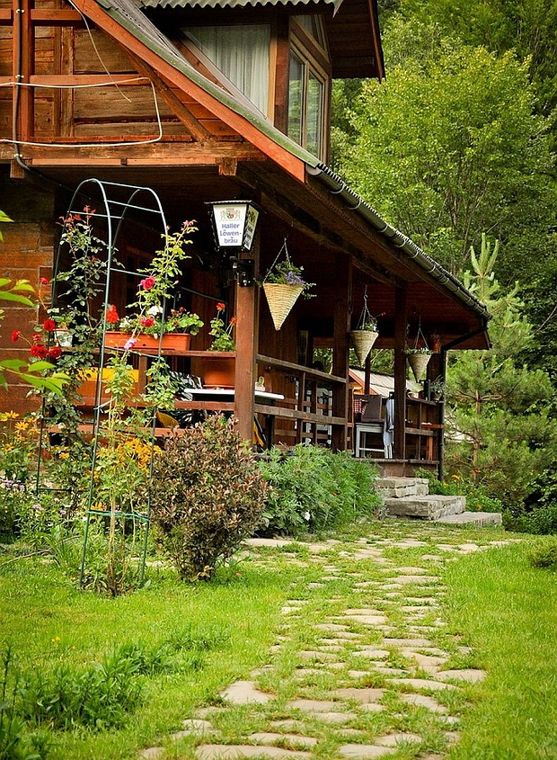 maison en bois roumanie