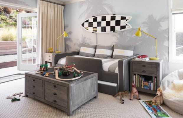 16 id es originales pour d corer une chambre d 39 enfant de fa on cool joyeuse. Black Bedroom Furniture Sets. Home Design Ideas