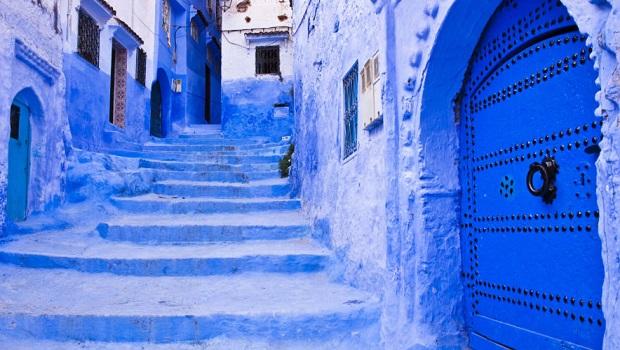 maisons bleu