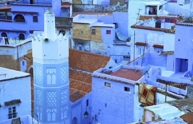 maisons bleu maroc