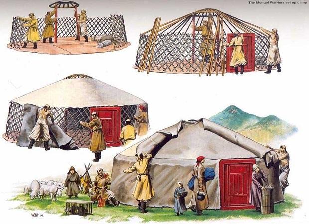 maisons en mongolie