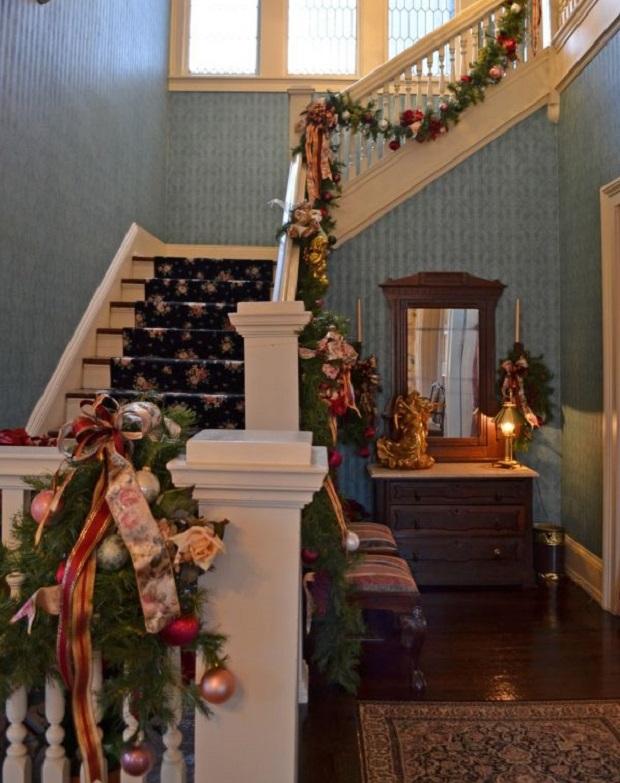 décoration escalier noël