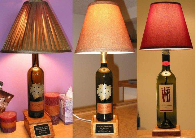 lampes bouteille de vin