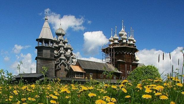 église en bois russie