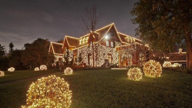 lumières jardin noel