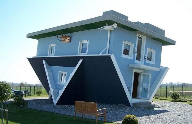 maisons à l'envers