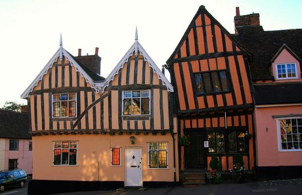 maisons tordues Lavenham