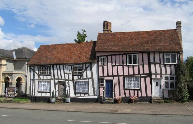 maisons tordues de lavenham