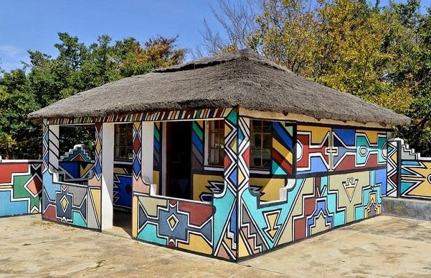 Les maisons peintes des Ndébélés