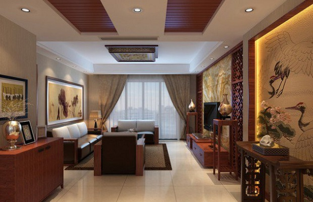 12 salles de s jour d 39 inspiration asiatique qui respirent. Black Bedroom Furniture Sets. Home Design Ideas