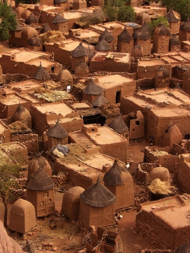 maisons traditionnelles dogon