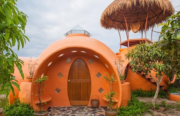 maison dome orange