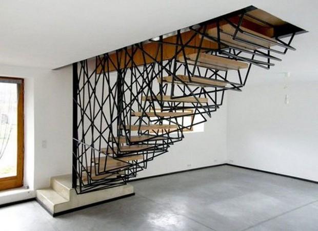 50 exemples d 39 escalier hallucinant et cr atif. Black Bedroom Furniture Sets. Home Design Ideas
