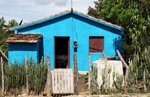 maison colorée cuba