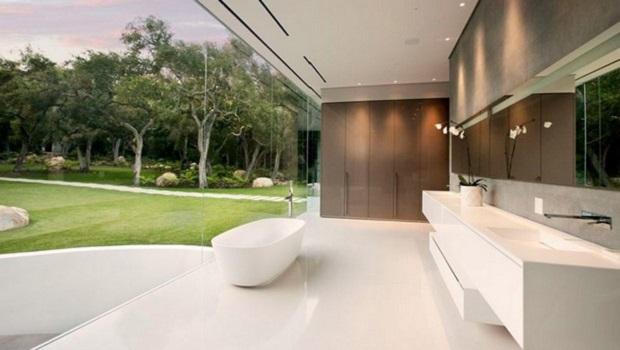 salle de bain transparente