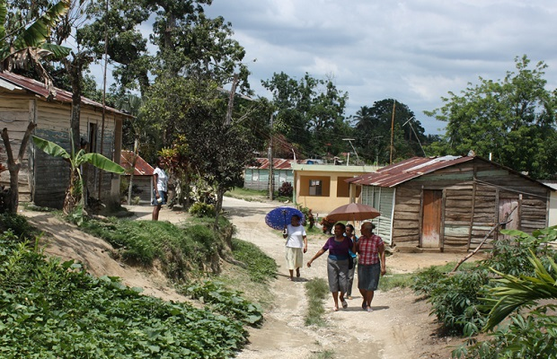 Petit village en République Dominicaine.
