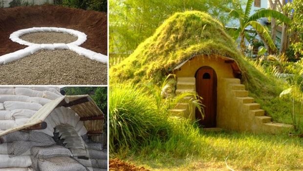 Une petite maison sous terre adorable - Construire une maison en terre ...