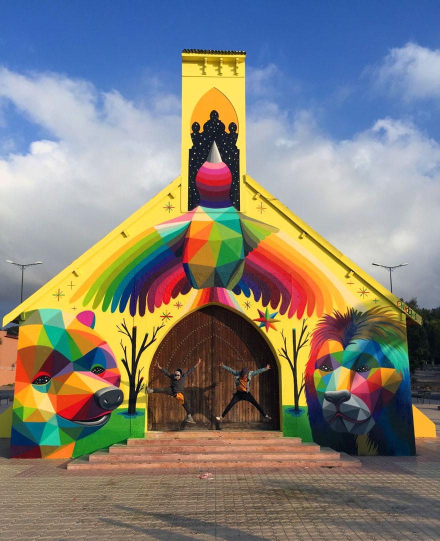 église abandonnée colorée 11