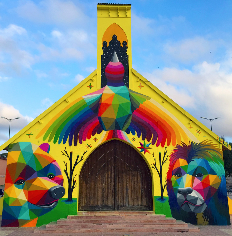 église abandonnée colorée 2