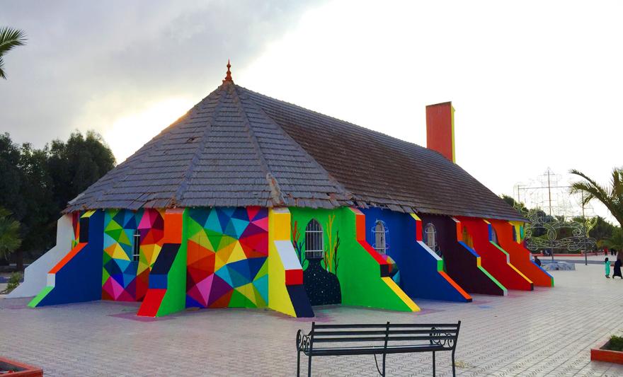 église abandonnée colorée 4