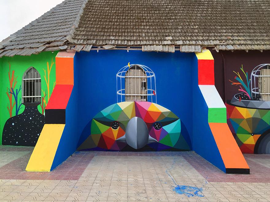 église abandonnée colorée 7