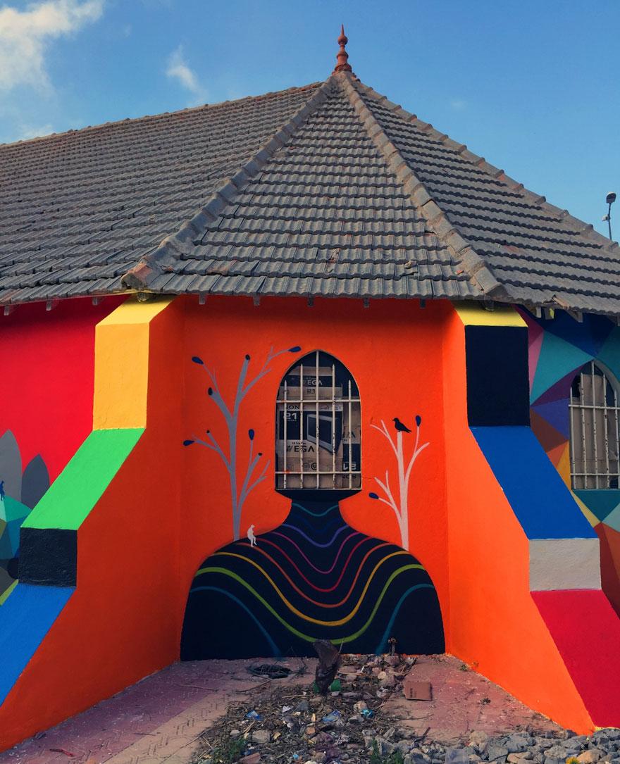 église abandonnée colorée 8