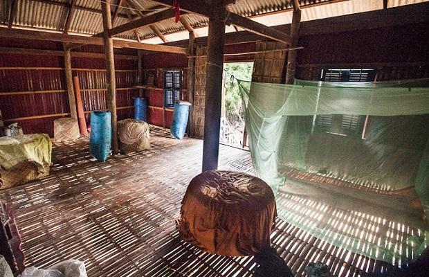 une maison cambodgienne