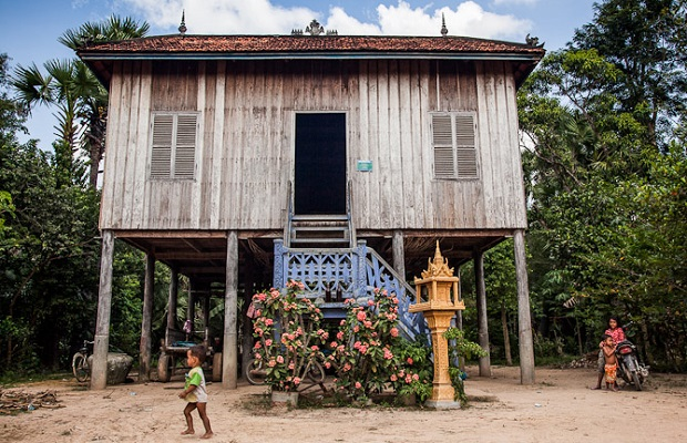 maisons typiques au cambodge