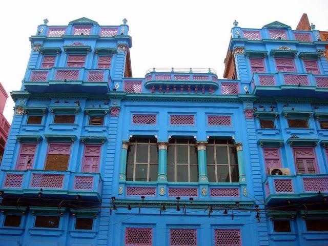 maisons colorées pakistan