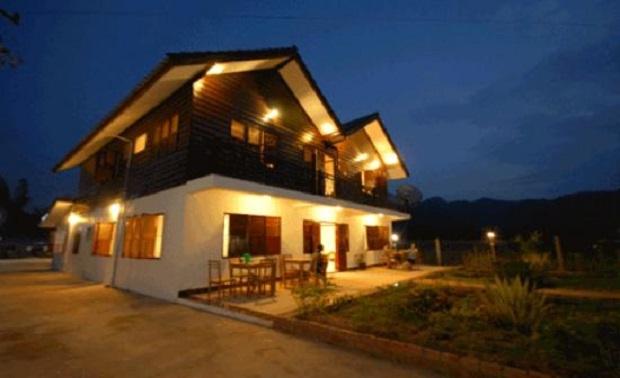 maison moderne laos