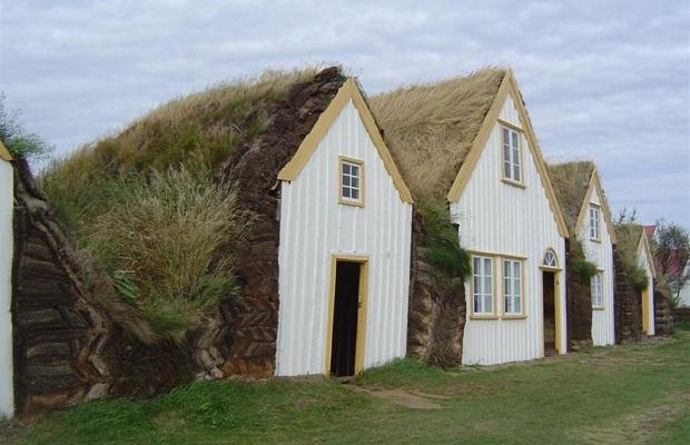 maisons de gazon islande