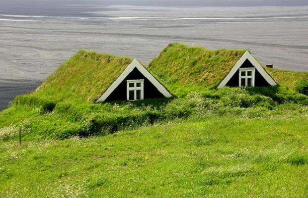 maisons gazon islande