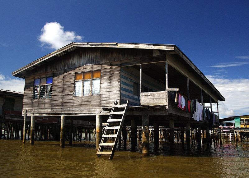maisons sur pilotis Kampong Ayer
