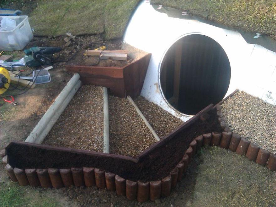 construire maison hobbit 4