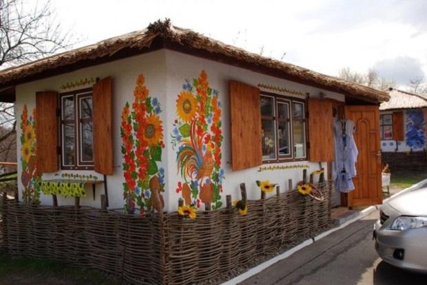 maison décorée ukraine