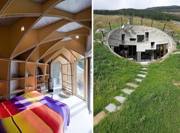 une maison souterraine unique et cologique