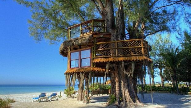 Une cabane de rêve en bord de mer