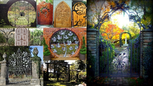 idées portail de jardin