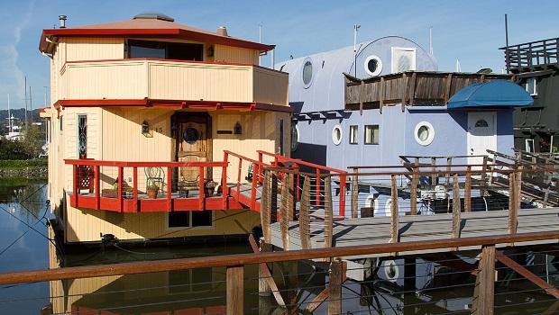 maisons flottantes de Sausalito