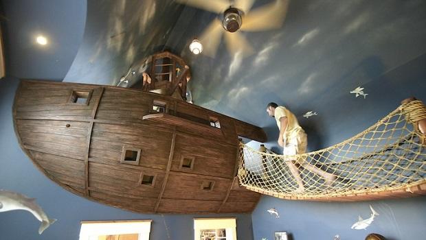 Une chambre de pirate incroyable